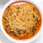 Egusi soup is a healthy Nigerian soup best eaten with fufu