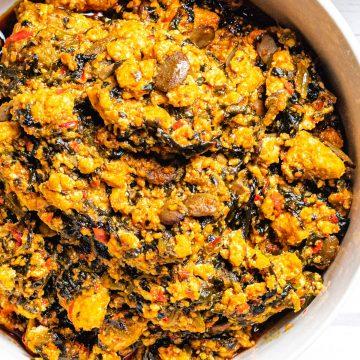 Nigerian Egusi soup (stew)