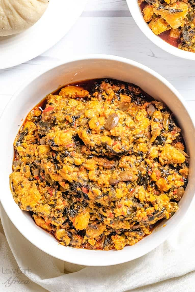 Egusi soup has only 4g carbs and is a very healthy west african soup.