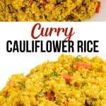 curry cauliflower rice pinterest image