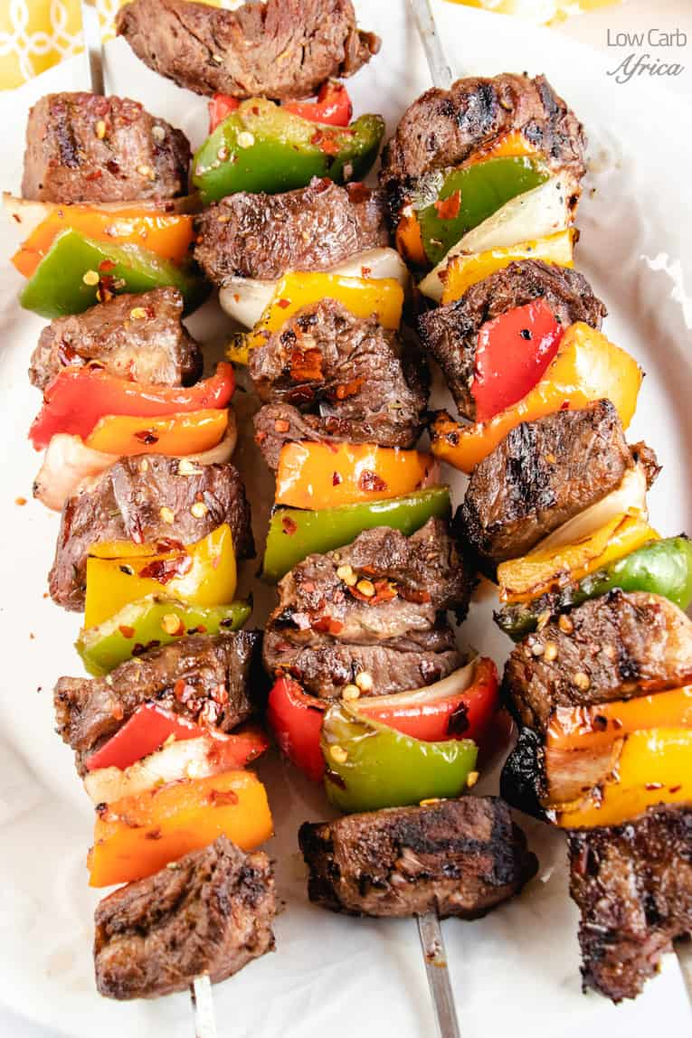 Enjoy this Shish kebab (shish kabob) with roasted veggies