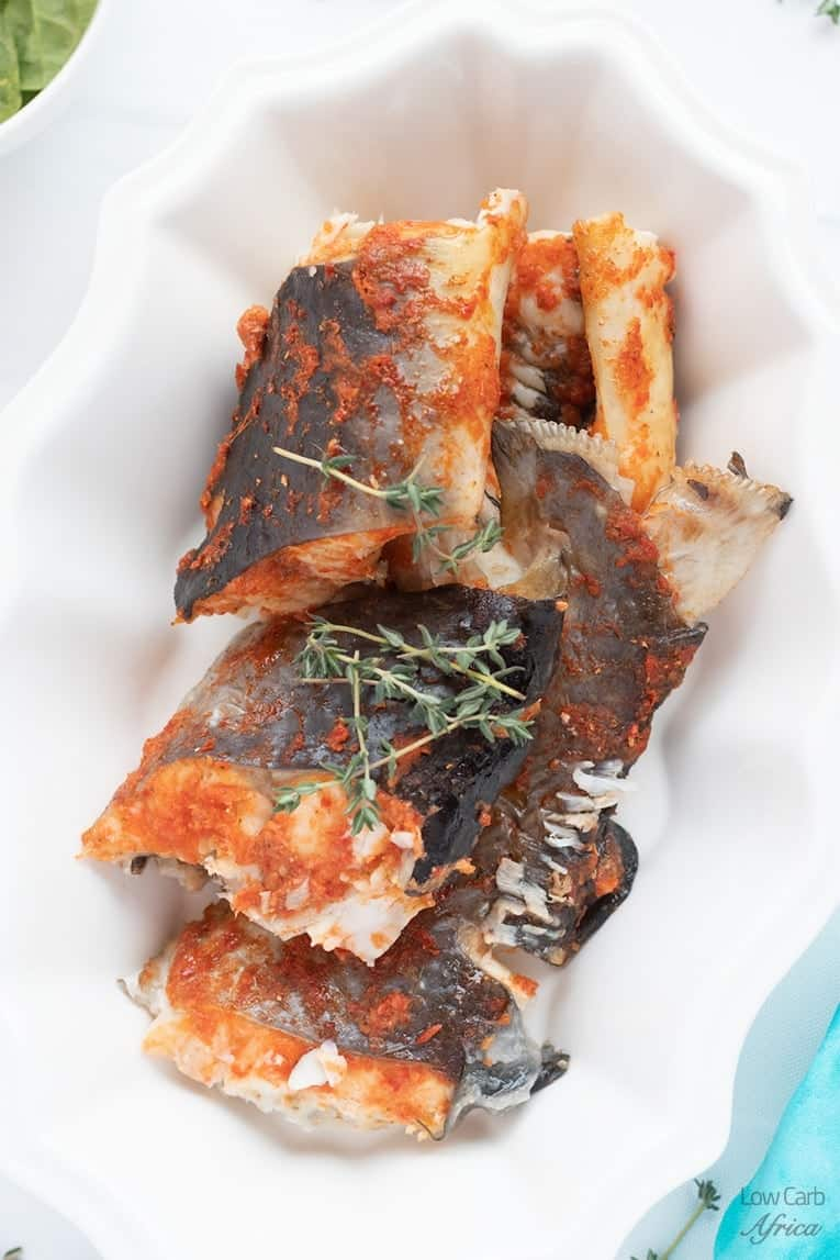 Baked Whole Catfish - Keto fish meals