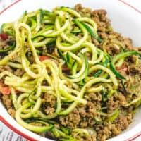 Zucchini and Ground Beef Stir