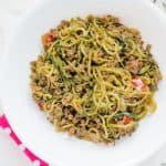 Ground Beef Zucchini Noodles