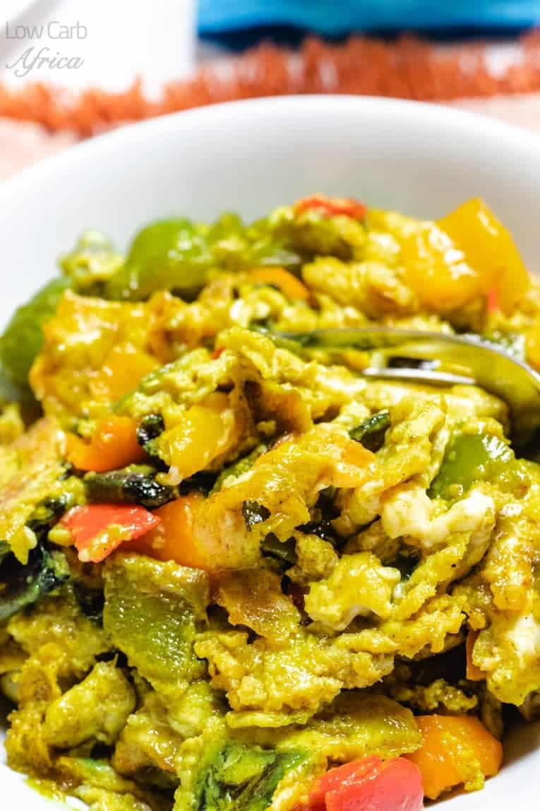 veggie scrambled eggs is a great way to start your mornings