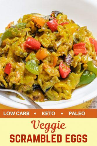pinterest image for veggie scrambled eggs