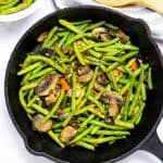 sauteed green beans and mushrooms social media image