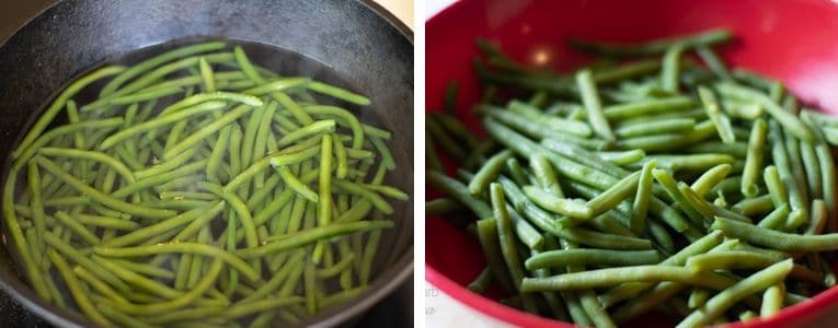boil and drain green beans