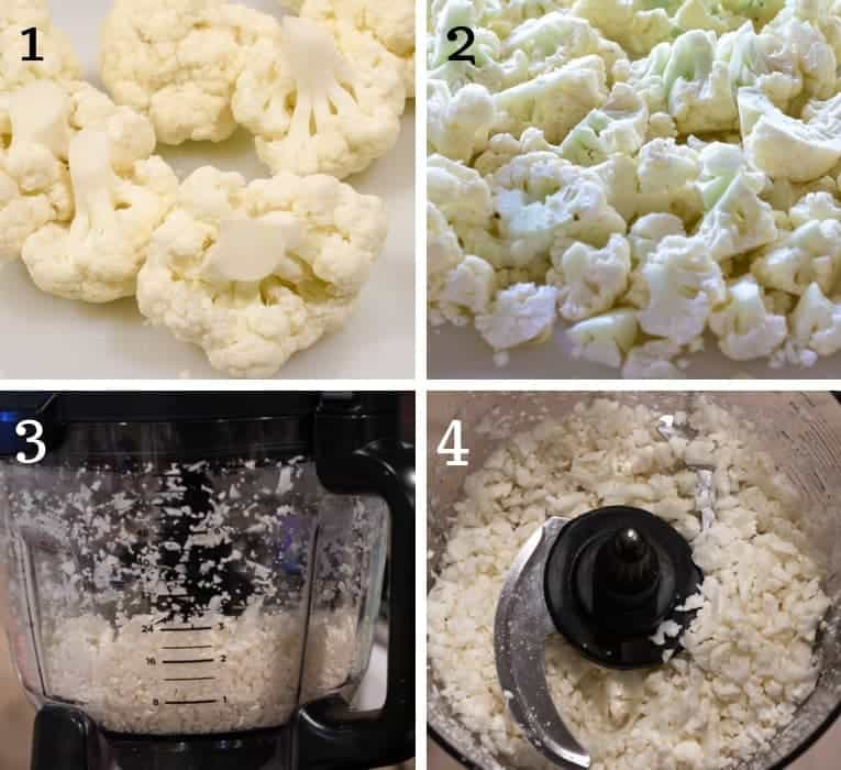 Cauliflower rice preparation