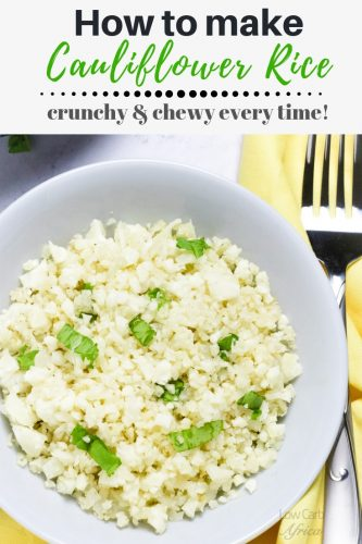 Cauliflower rice pinterest