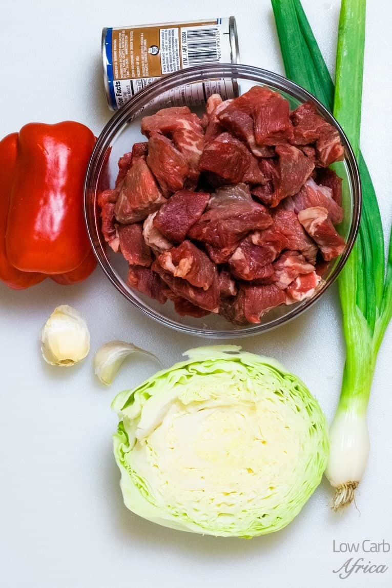 Vegetable Beef Soup with Cabbage ingredients