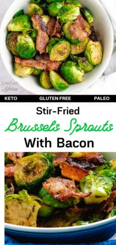 Stir-Fried Brussels Sprouts With Bacon pinterest image