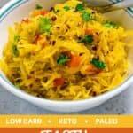 spaghetti squash pinterest image