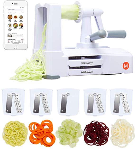 5-Blade Spiralizer & Vegetable Slicer