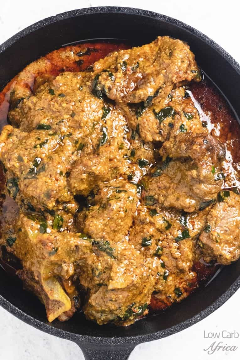 beniseed soup african sesame stew closeup