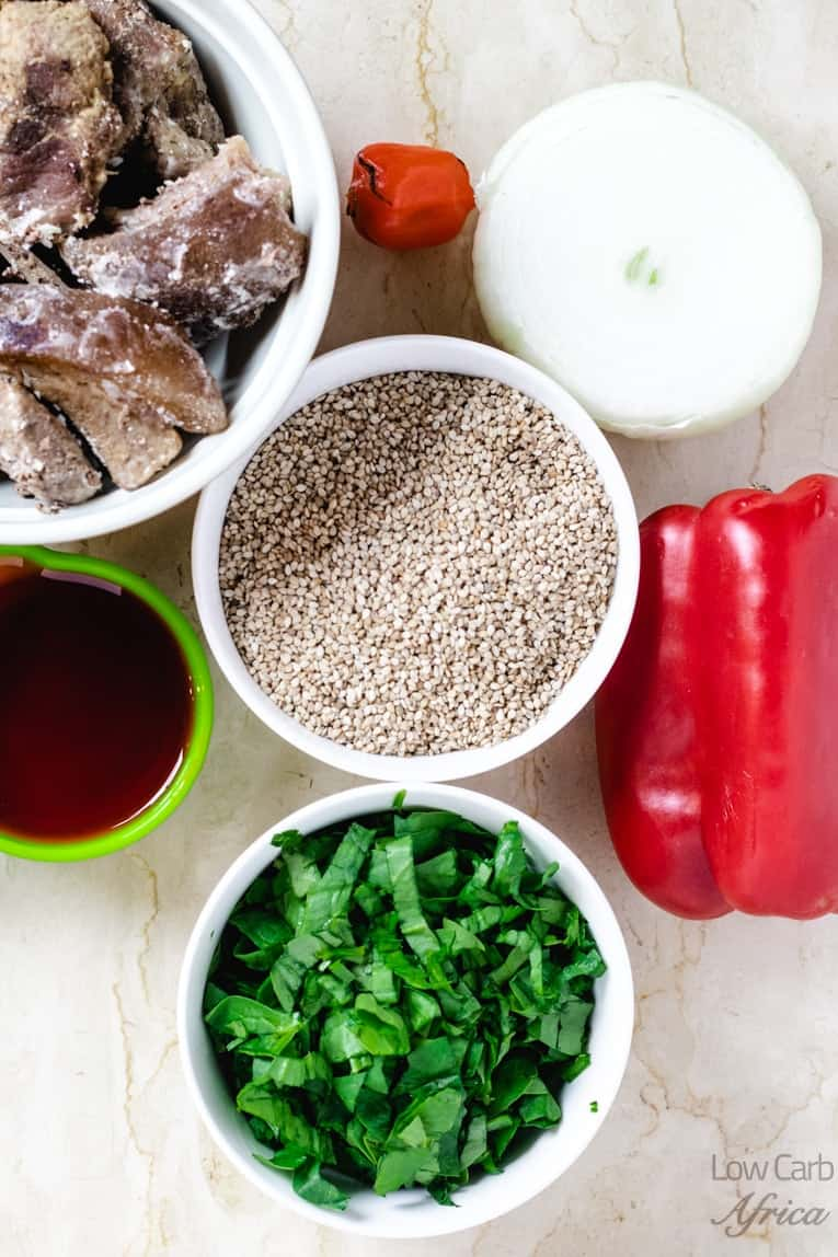 Beniseed Soup-ingredients