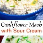 Cauliflower Mash With Sour Cream pinterest image