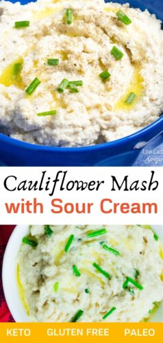 Cauliflower Mash With Sour Cream pinterest image