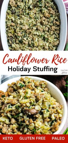Cauliflower Rice And Sausage Stuffing pinterest