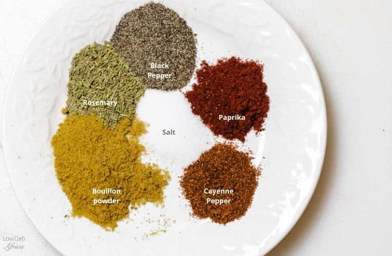 spices used in making baked chicken drumsticks