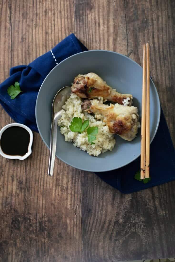 Ginger Garlic Chicken Rice