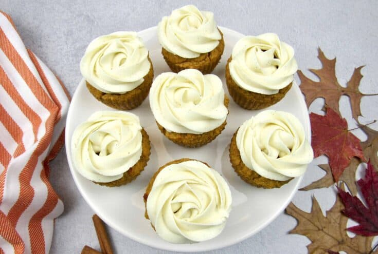 Pumpkin Cupcakes - Keto, Low Carb & Gluten Free
