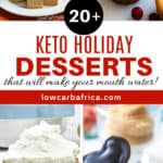 low carb and keto holiday desserts