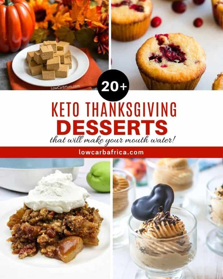 keto thanksgiving desserts featured image