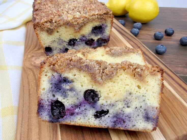 Keto Blueberry Crumb Loaf