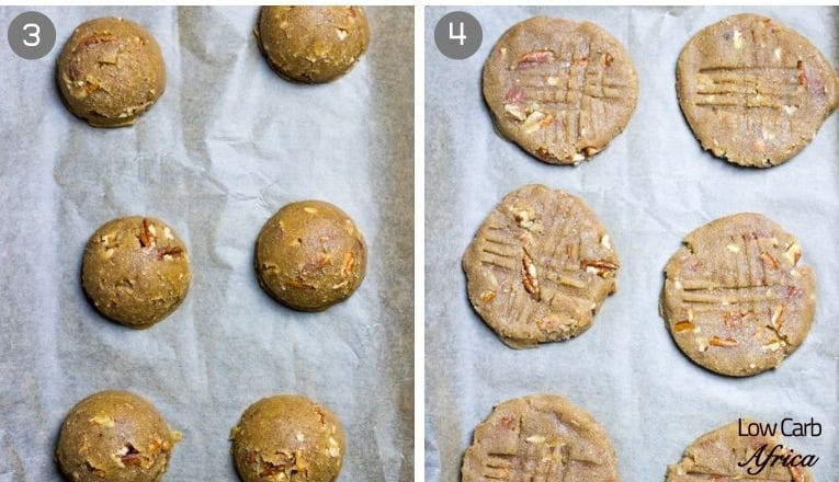 Keto Cinnamon Pecan Cookies-prep collage2