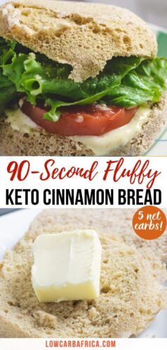 90 second cinnamon keto bread pinterest