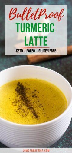 Bulletproof Turmeric Latte pinterest