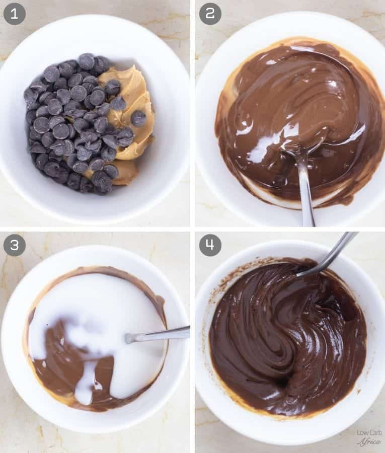 Keto Peanut Butter Chocolate Pudding preparation steps