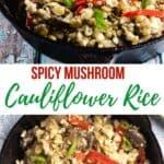 Mushroom Cauliflower Rice with Peppers pinterest image