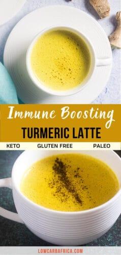 pinterest image for bulletproof turmeric latte