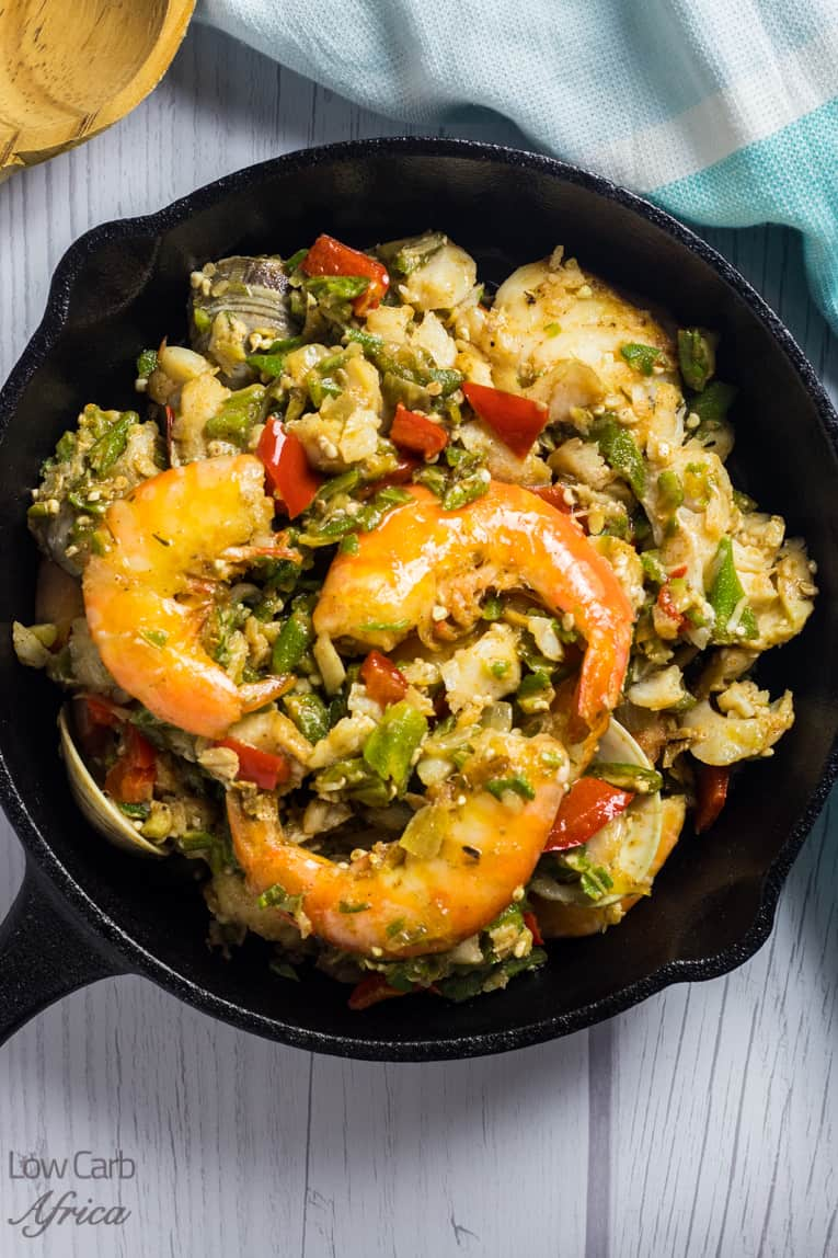 Enjoy this seafood okra on your Nigerian keto diet