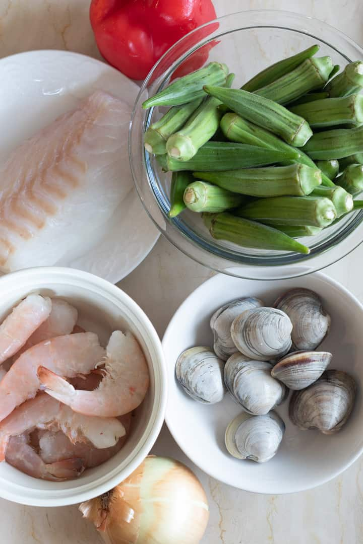Seafood Okra-ingredients
