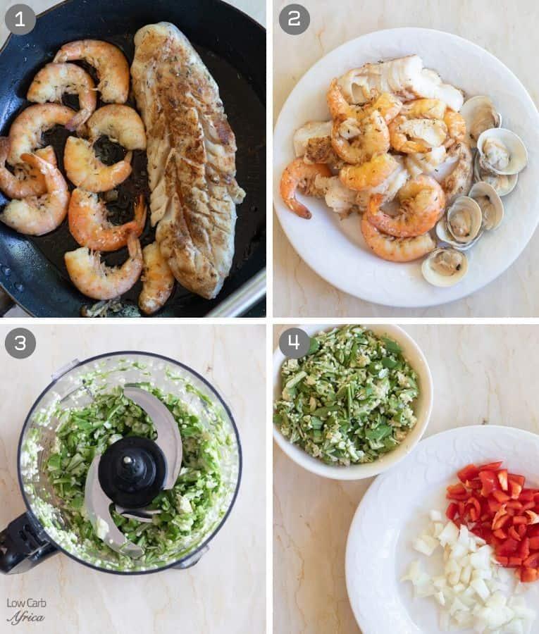 seafood okra (seafood okro) preparation pics