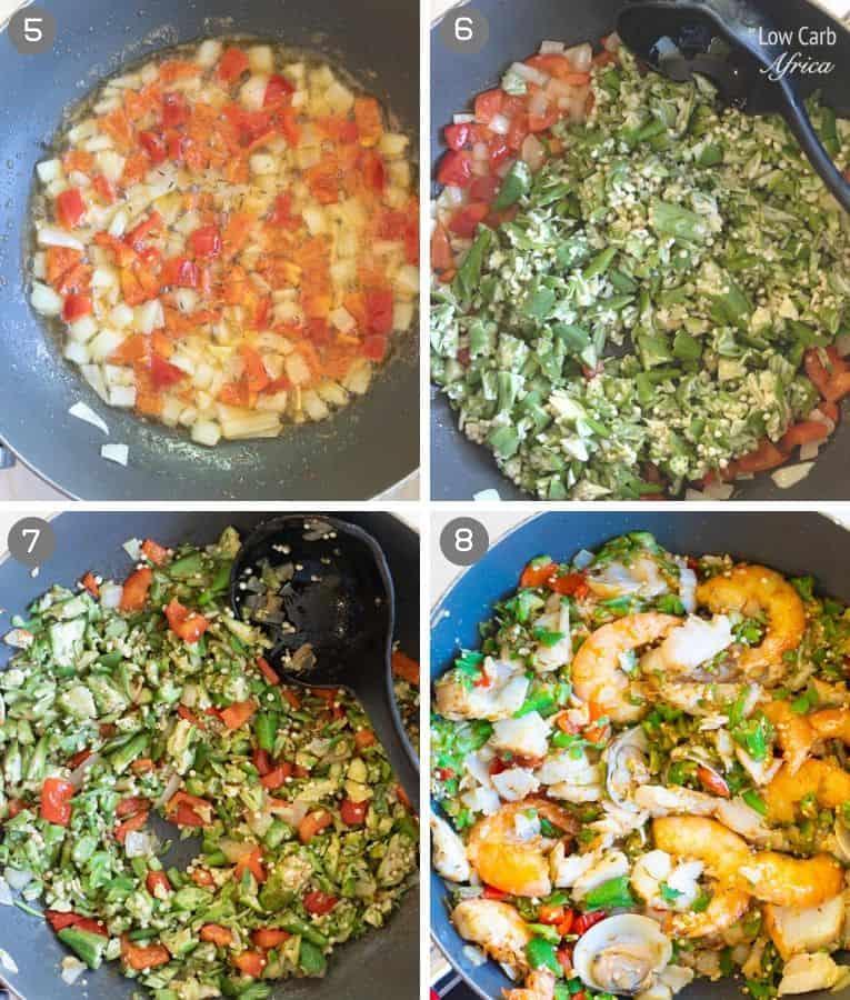 seafood okra (seafood okro) preparation pics 2
