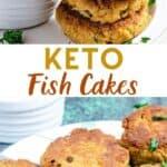 pinterest image for keto fish cakes