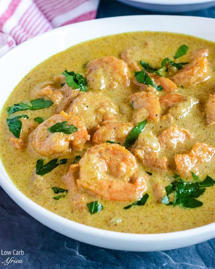 featured image for keto shrimp curry recipe
