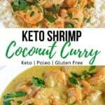Keto Shrimp Coconut Curry-pinterest image