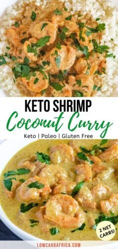 Keto Shrimp Coconut Curry-pinterest image