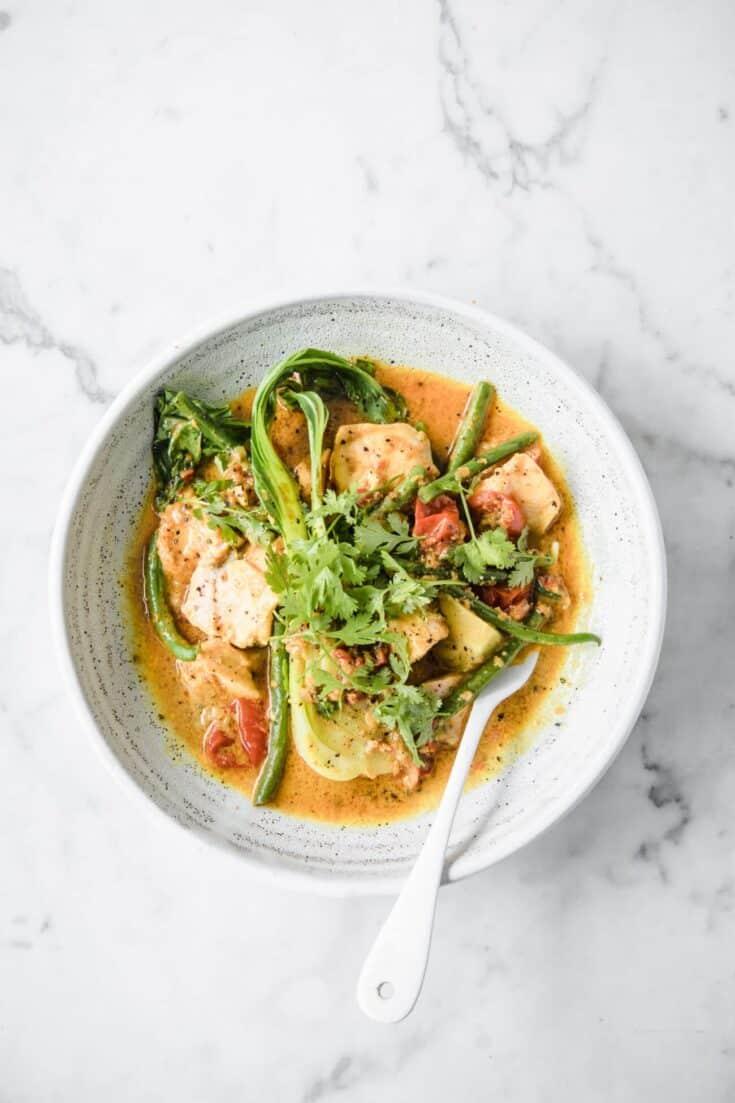 Keto Salmon Coconut Curry