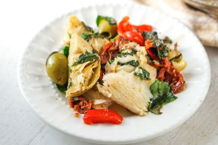 Low Carb Mediterranean Fish Dinner