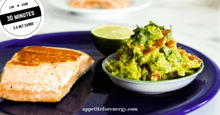 Low-Carb Salmon with Avocado Jalapeño Salsa