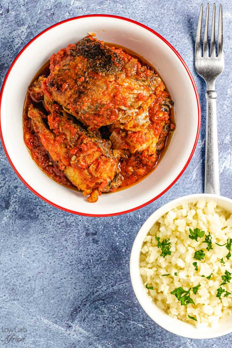 African fish stew in a bowl