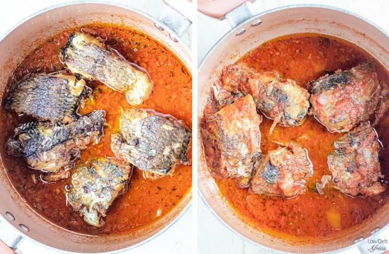 fried tilapia in african stew