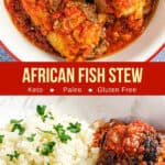 pinterest image for African fish stew