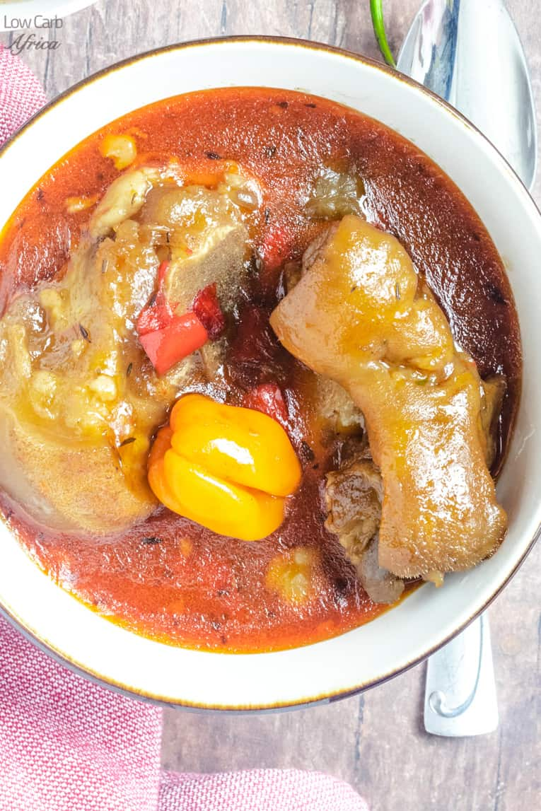 cow foot soup(cow heel soup) is enjoyed in Africa the Carribean.